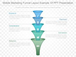 Mobile Marketing Funnel Layout Example Of Ppt Presentation