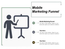 Mobile Marketing Funnel Ppt Powerpoint Presentation Infographic Template Layout Ideas Cpb
