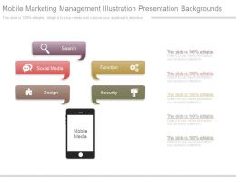 Mobile Marketing Management Illustration Presentation Backgrounds