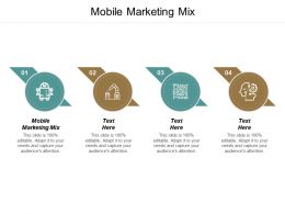 Mobile Marketing Mix Ppt Powerpoint Presentation Gallery Summary Cpb