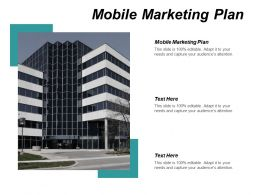 Mobile Marketing Plan Ppt Powerpoint Presentation Gallery Graphics Cpb