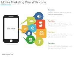 Mobile Marketing Plan With Icons Ppt Design Templates