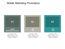 Mobile Marketing Promotions Ppt Powerpoint Presentation Portfolio Visual Aids Cpb