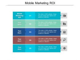 Mobile Marketing Roi Ppt Powerpoint Presentation File Master Slide Cpb