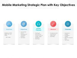 Mobile Marketing Strategic Plan With Key Objectives
