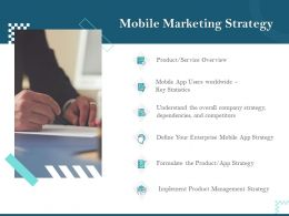 Mobile Marketing Strategy Key Statistics Ppt Powerpoint Presentation Slide Download