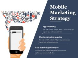 Mobile Marketing Strategy Presentation Background Images