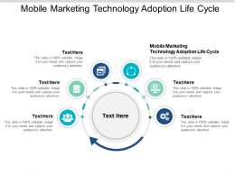 Mobile Marketing Technology Adoption Life Cycle Ppt Powerpoint Presentation Styles Example Cpb
