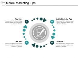 Mobile Marketing Tips Ppt Powerpoint Presentation Infographics Graphics Cpb