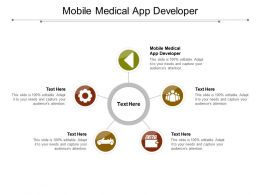 Mobile Medical App Developer Ppt Powerpoint Presentation Slides Smartart Cpb