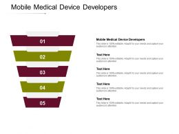 Mobile Medical Device Developers Ppt Powerpoint Presentation Gallery Diagrams Cpb