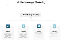 Mobile Message Marketing Ppt Powerpoint Presentation Show Ideas Cpb
