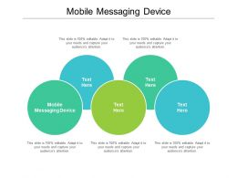 Mobile Messaging Device Ppt Powerpoint Presentation Styles Deck Cpb