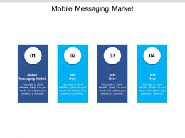 Mobile Messaging Market Ppt Powerpoint Presentation Model Backgrounds Cpb