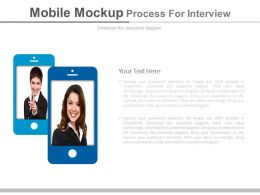 Mobile Mock Up Process For Interview Flat Powerpoint Design