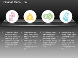 Mobile Money Dollar Coins Bag Think Of Money Ppt Icons Graphics