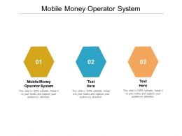 Mobile Money Operator System Ppt Powerpoint Presentation Background Cpb