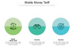 Mobile Money Tariff Ppt Powerpoint Presentation Summary Example Cpb