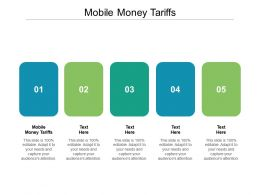 Mobile Money Tariffs Ppt Powerpoint Presentation Styles Examples Cpb