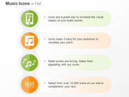 Mobile Music App Music Nodes Variation Volume Control Ppt Icons Graphics