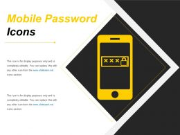 Mobile Password Icons