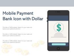 Mobile Payment Bank Icon With Dollar