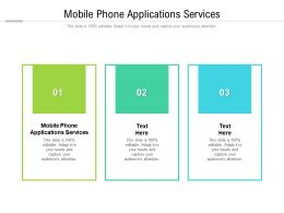 Mobile Phone Applications Services Ppt Powerpoint Presentation Professional Tips Cpb