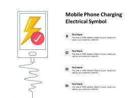 Mobile Phone Charging Electrical Symbol