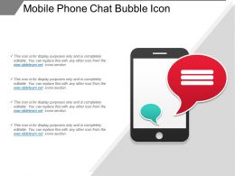 Mobile Phone Chat Bubble Icon