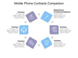 Mobile Phone Contracts Comparison Ppt Powerpoint Presentation Summary Outfit Cpb