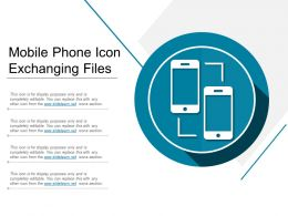Mobile Phone Icon Exchanging Files