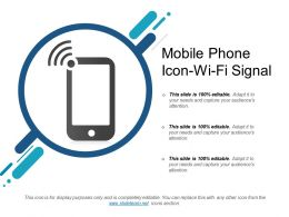 Mobile Phone Icon Wi Fi Signal