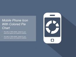 Mobile Phone Icon With Colored Pie Chart