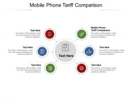 Mobile Phone Tariff Comparison Ppt Powerpoint Presentation Gallery Themes Cpb