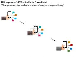Mobile Phone With Android Apps Flat Powerpoint Design