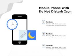Mobile Phone With Do Not Disturb Icon