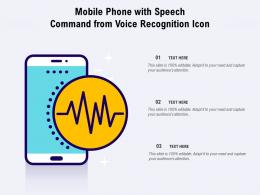 Mobile Phone With Speech Command From Voice Recognition Icon