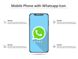 Mobile Phone With Whatsapp Icon