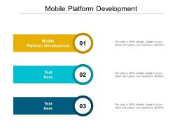 Mobile Platform Development Ppt Powerpoint Presentation Summary Diagrams Cpb