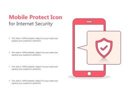 Mobile Protect Icon For Internet Security