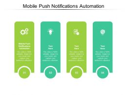 Mobile Push Notifications Automation Ppt Powerpoint Presentation Icon Pictures Cpb