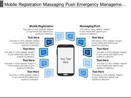 Mobile Registration Massaging Push Emergency Management Emergency Administrator
