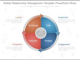 Mobile Relationship Management Template Powerpoint Show