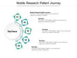 Mobile Research Patient Journey Ppt Powerpoint Presentation Visual Aids Example File Cpb