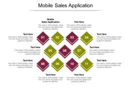 Mobile Sales Application Ppt Powerpoint Presentation Model Icon Cpb