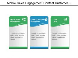 Mobile Sales Engagement Content Customer Engagement Marketing Channel Cpb