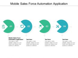 Mobile Sales Force Automation Application Ppt Powerpoint Presentation Professional Cpb