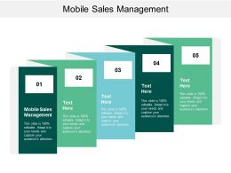 Mobile Sales Management Ppt Powerpoint Presentation Diagram Lists Cpb