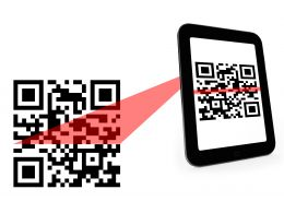Mobile Scanning For Codes Stock Photo