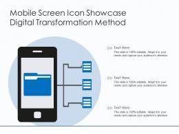 Mobile Screen Icon Showcase Digital Transformation Method